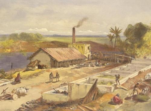 An Indigo factory, Bengal, India 1867
