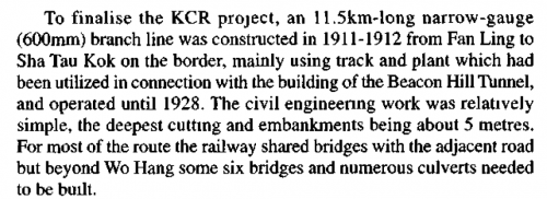 Sha Tau Kok railway - extract from Guilford article