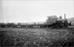 A steam engine on the narrow-gauge Sha Tau Kok branch line, which operated between Fan Ling and Sha Tau Kok during the period from 1912 to 1928. http://www.kcrc.com/en/about/history2.html