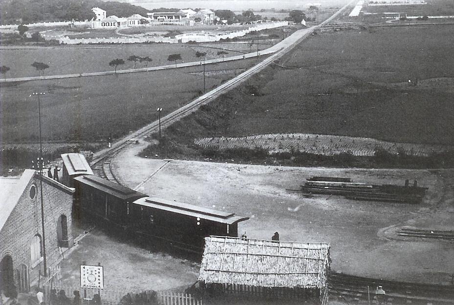 Spur line branch station at Fanling