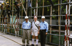 Dr. Dan Waters,staff and trainees of Sheung Shui Construction Industry Training Centre 1990s