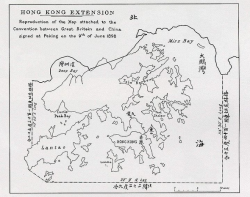 "Map showing the ""Hong Kong Extension"" signed at Peking on the 9th June 1898"