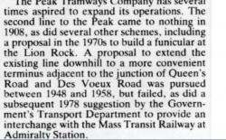 Peak Tramways - alternative Peak Tram etc routes