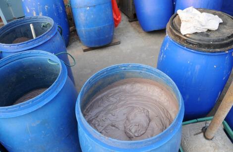 The ubiquitous blue barrels Courtesy: Bluebalu