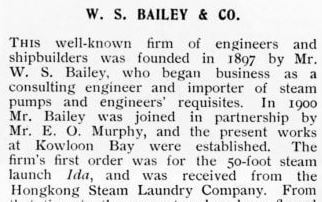 Bailey's Shipyard Detail 1908 Wright Account From IDJ