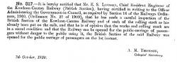 The Hong Kong Government Gazette 7th Oct 1910