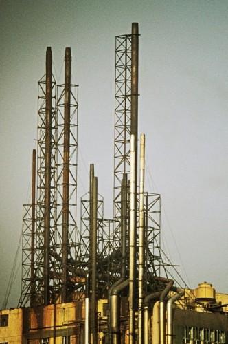 Hong Kong-Kowloon-Kwai Chung-Factory chimneys-1