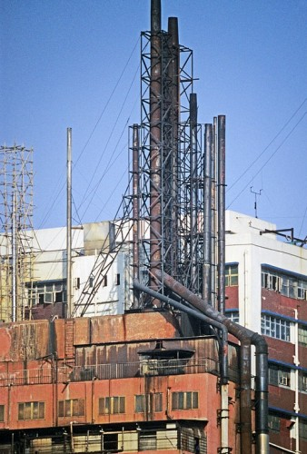 Hong Kong-Kowloon-Kwai Chung-Factory chimneys-2