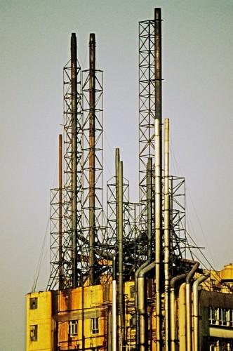 Hong Kong-Kowloon-Kwai Chung-Factory chimneys-4