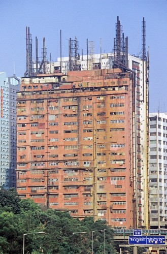 Hong Kong-Kowloon-Kwai Chung-Factory chimneys-5