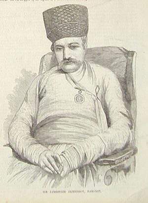 Sketch of Jejeebhoy 1857