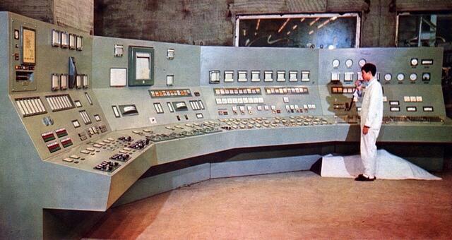 7 1969Local control room instrument panel for Boiler & Steam Turbine Unit