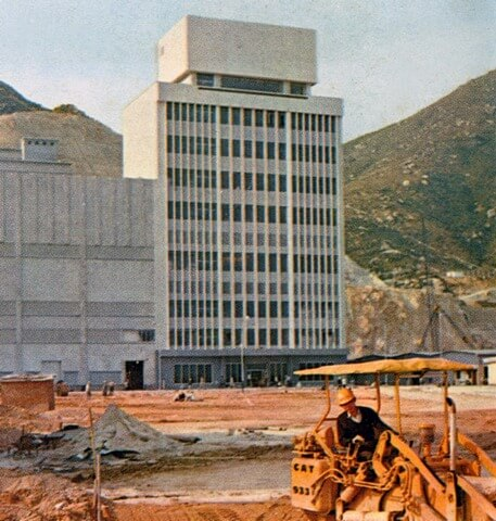 6 1968 Administration Building with site construction ongoing