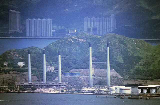 Tsing Yi Power Station being demolished
