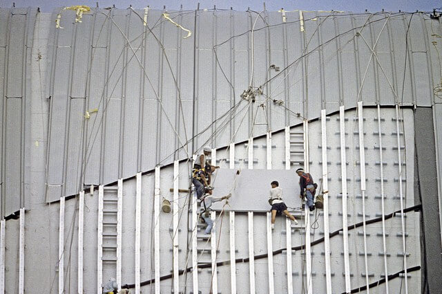 Hong Kong-Wanchai-Convention & Exhibition Centre-016-Roof Construction-1997