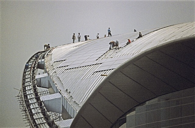 Hong Kong-Wanchai-Convention & Exhibition Centre-017-Roof Construction-1997