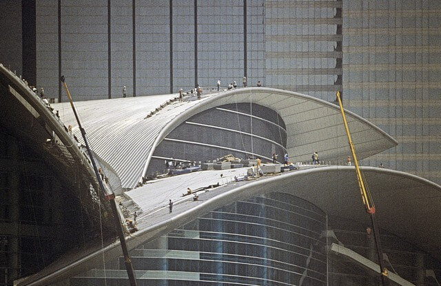 Hong Kong-Wanchai-Convention & Exhibition Centre-020-Roof Construction-1997