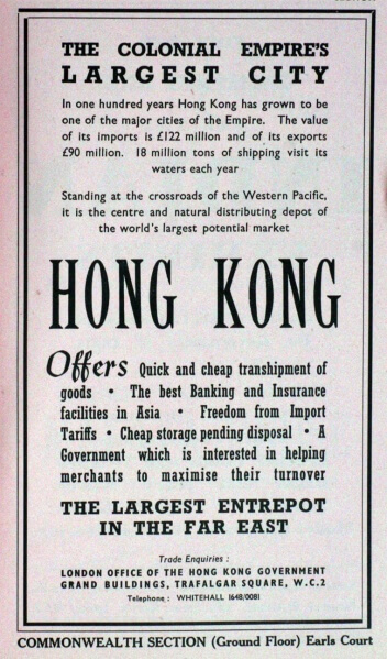 London Advert for Hong Kong