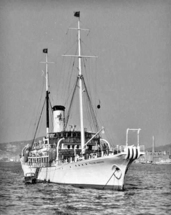 Cable repair ship Danish Hong Kong IDJ