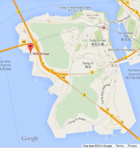 HUD Google map Tsing Yi island