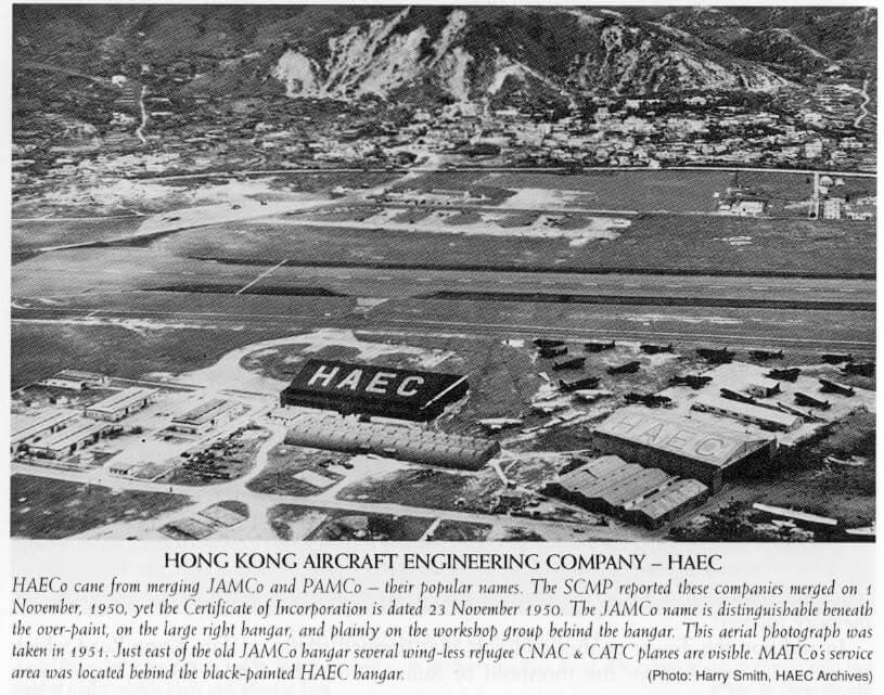 Kai Tak HAECO hangar 1951