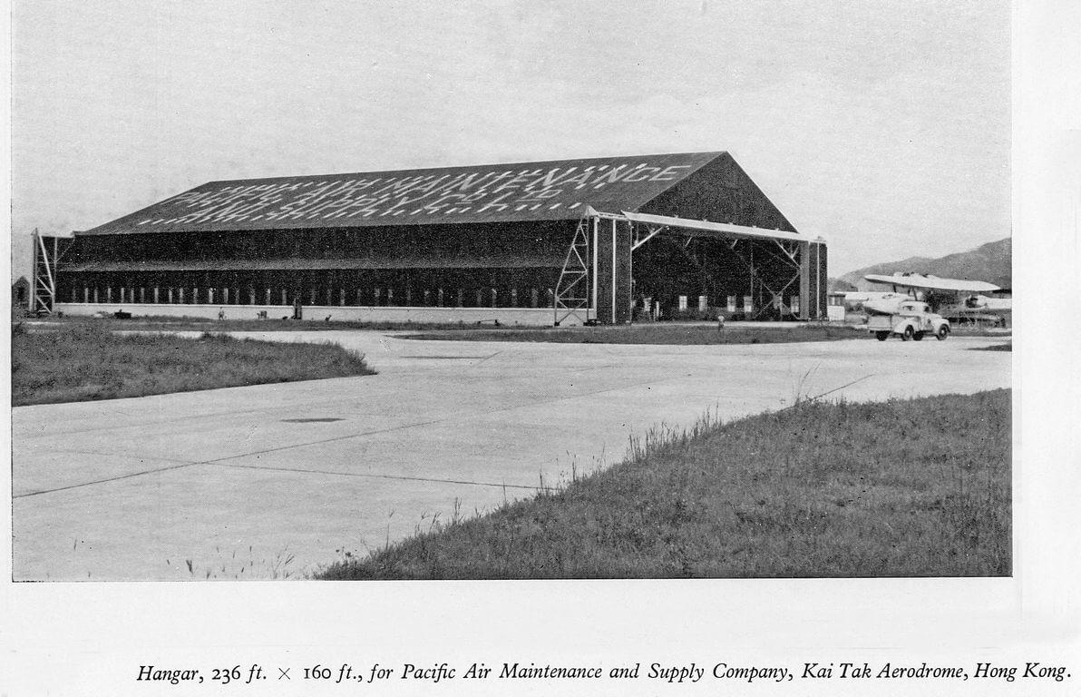 Kai Tak PAMAS hangar built by Taikoo Dockyard c1949