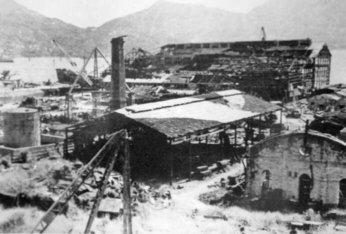 Kowloon Dockyard-War damage-003