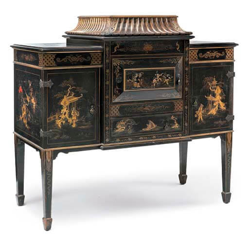 Chunny 8 Chinoiserie style gramophone cabinet