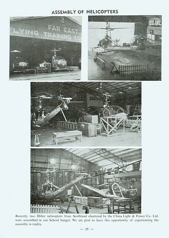 Assembly of helicopters for CLP late 1960s