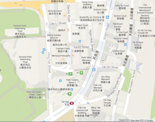 Ngan Mok Street - Google Map