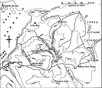 Climbing Ma On Shan map