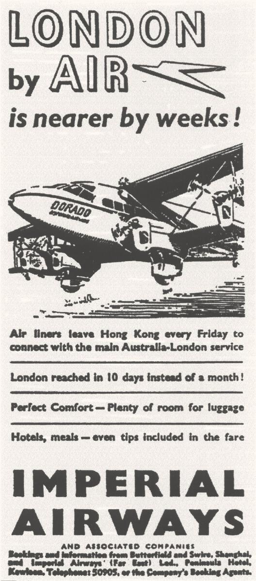Imperial Airwys advert 1937
