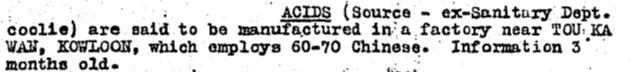 To Kwa Wan acid factory BAAG WIS #17 28.1.43