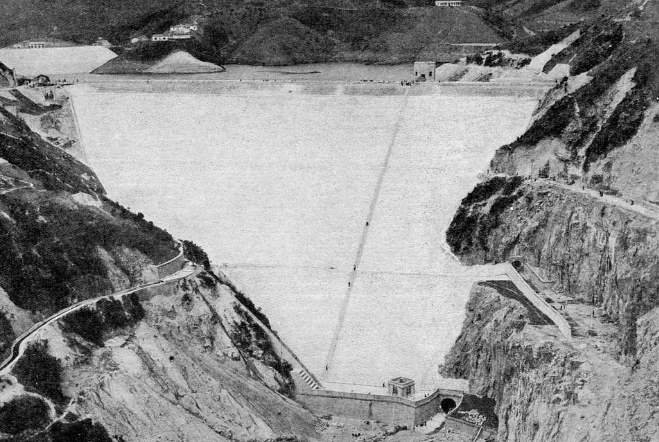 Hong Kong Water Supply 1935 snipped image 2 shing mun reservoir