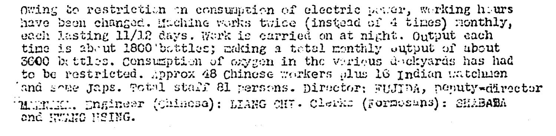 Hongkong Oxygen Company ER Kweilin Weekly Intelligence Summary #66, 15.9.1944.