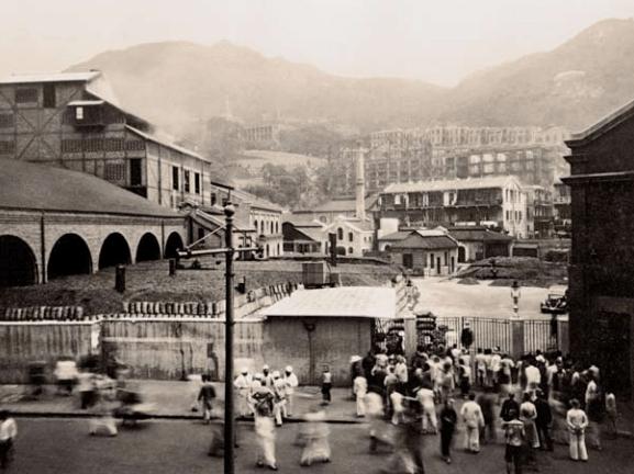 Hongkong and China Gas Company 1934 Staff waiting after the gasholder explosion