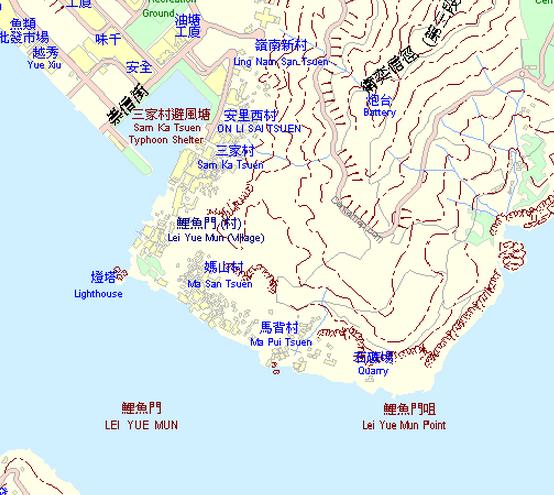 Lei Yue Mun Quarry centamap