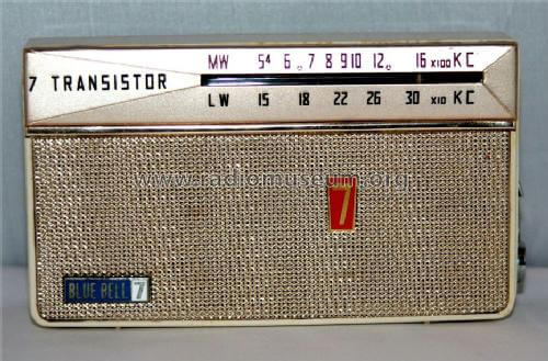 Peter Woo Blue Bell 7 transistor radio manufactured by Champagne