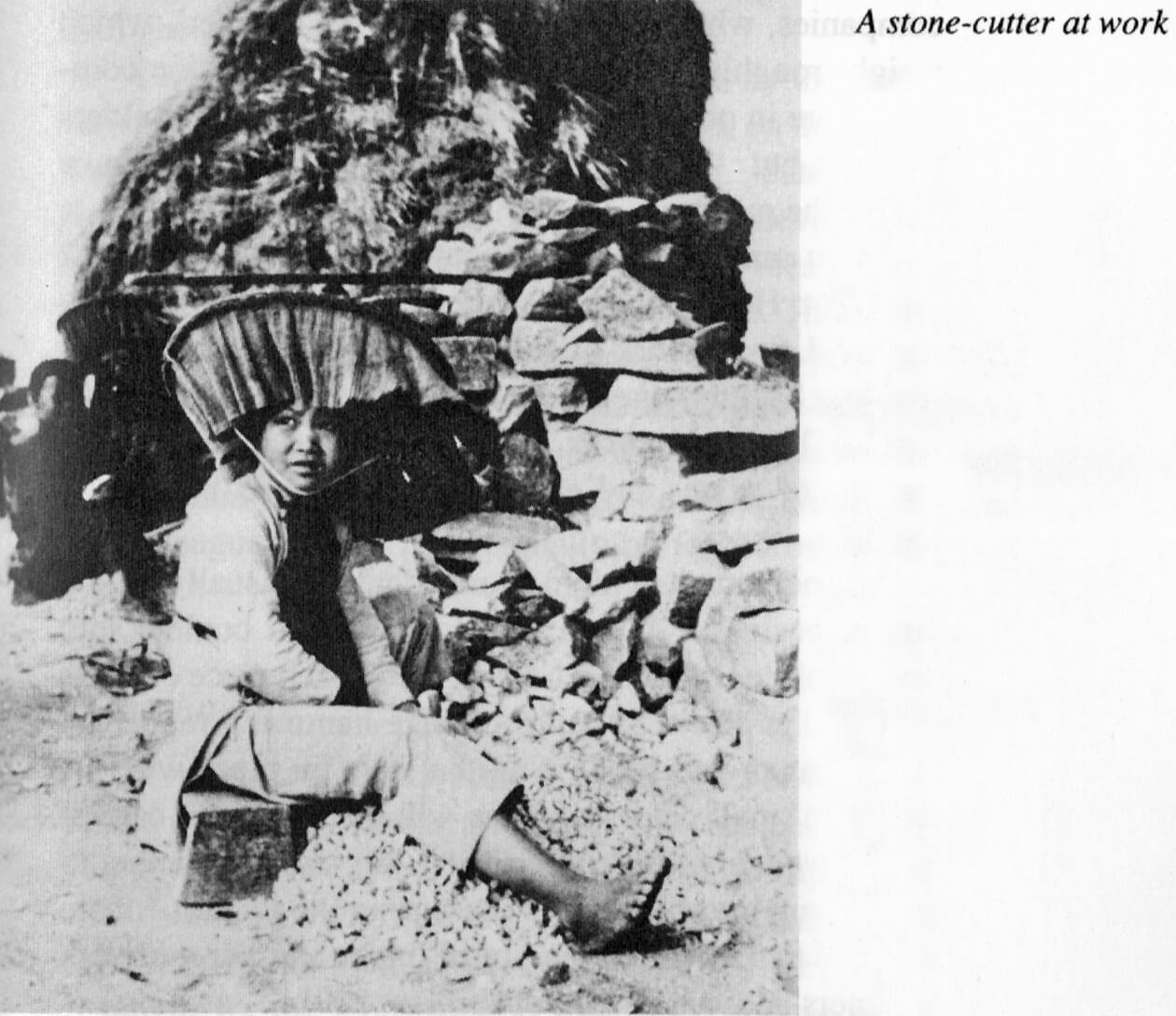 Stone Breakers Hong Kong-Stonecutter-at work IDJ location.date unknown