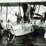 Francesco de Pinedo - Italian aviator - lands in HK 1925