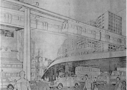 Aerometro Ltd monorail - drawing