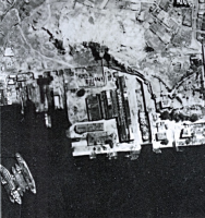 Cosmopolitan Docks aerial photo Nov 1945 snipped version