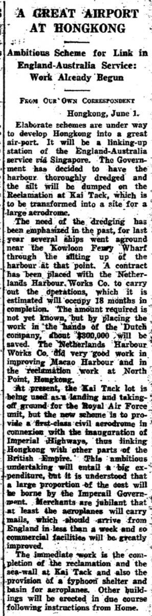 Netherlands Harbour Works-Company-newsprint clip-June 1927