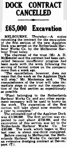 Netherlands Harbour Works - The Mercury, Hobart Oz, 30.8.1940