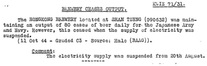 Sham Tseng Brewery BAAG KWIZ#71 20.10.44