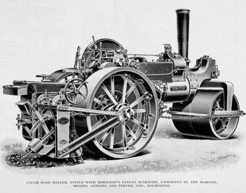 Steam Road Roller of the Time