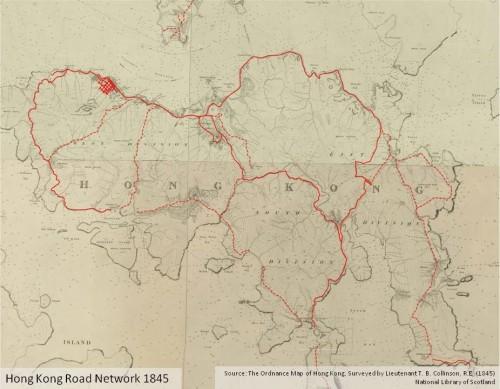 Hong Kong Roads 1845