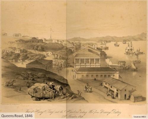 View of Queens Road 1846