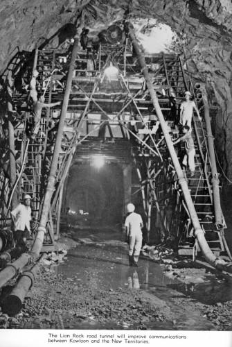 Lion Rock road tunnel construction-circa 1962 IDJ