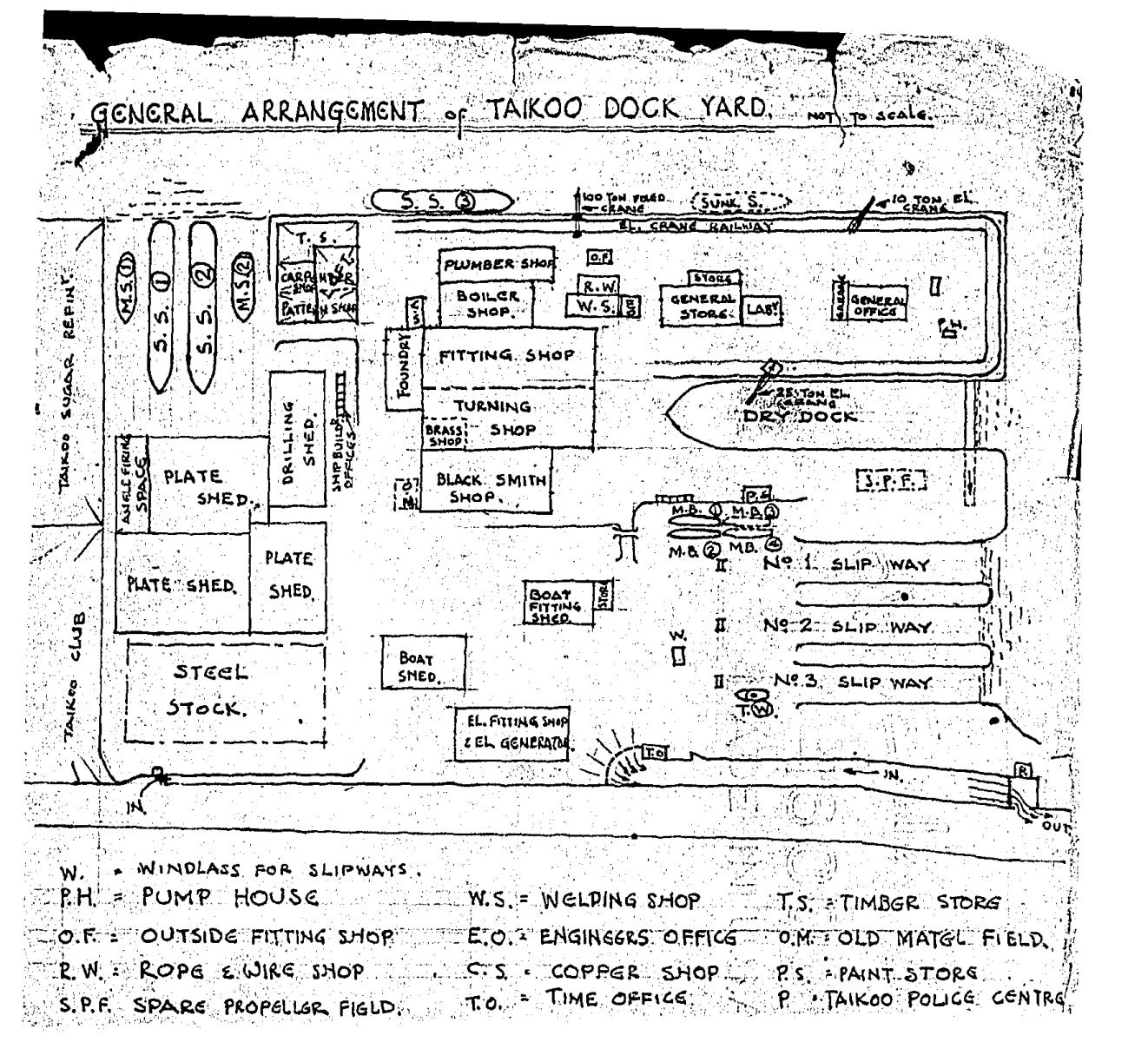Taikoo Dockyard KIS #2 13.7.42 map